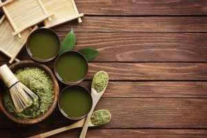 Green ingredients for a healthy smoothy