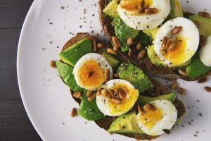 Healthy egg and avocado breakfast for 2018