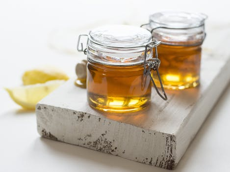 Jarred honey to be used for a face mask in 2018