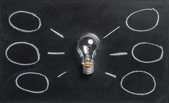 Light bulb idea board for small space
